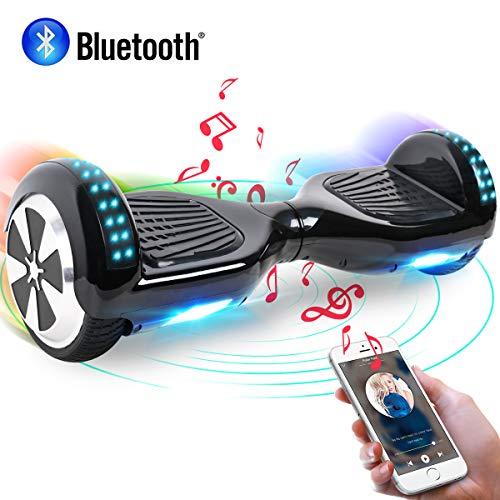 "Windgoo Hoverboard, 6.5\"" Self Balance Scooter mit Bluetooth Lautsprecher, 2 * 250W Motor, LED Lights, Elektro Scooter (Black)"