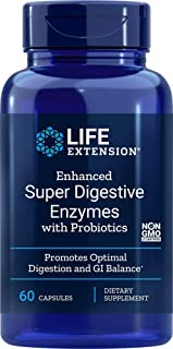 Life Extension Enhanced Super Digestive Enzymes with Probiotics, 60 Vegetarian Capsules