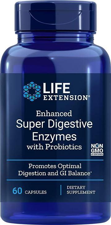 probiotici - Enzimi super digestivi migliorata 60 capsule vegetariane - 120 g life extension 02022