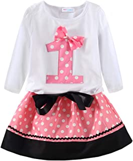 Mud Kingdom Little Girls Birthday Clothes Sets Gifts