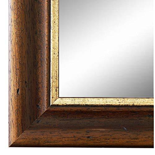 Online Galerie Bingold Spiegel Wandspiegel Braun Gold 50 x 140 cm - Modern, Retro, Vintage - Alle Größen - Massiv - Holz - AM - Foggia