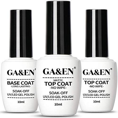 No Wipe Gel Matte Mirror Top Coat Base Coat LED Lamp Needed Quick Dry Long Lasting Gloss Clear Resin Polish Nail Art Glue For Home And Salon Use