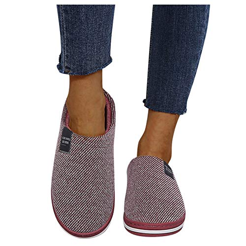 Dasongff Damen Pantoffeln Hausschuhe Winter Memory Foam Pantoffeln Rutschfeste Warme Bequem Plüsch Slippers Elegantes Open Toe Flip Flop