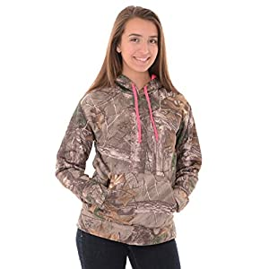 Realtree Women's Performance Pullover Fleece, X-Large, Realtree Xtra