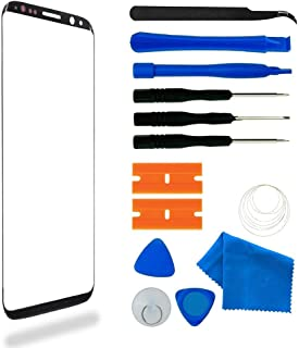 for Samsung Galaxy S9 Plus Screen Lens Glass Replacement Kit,Front Outer Lens Glass Screen with Adhesive for Samsung S9 Pl...