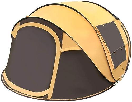 Anat Tente 3-4 Personnes for la Tente de Camping Instant Setup Double Couche étanche for la Tente de Camping familiale 4 Saisons