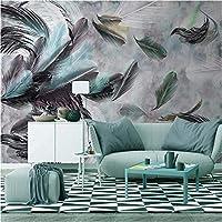 3D壁紙ポスター着色された羽カスタム大規模な壁紙の壁紙3Dテレビの背景リビングルームの写真の壁紙3Dルームの壁紙-200X140cm