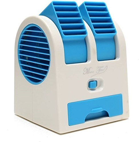 Anadi Mini Fan & Portable Dual Bladeless Small Air Conditioner Water Air Cooler Powered by USB