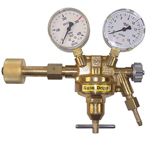 Druckminderer Stickstoff 300 Bar / 0-10 Bar Gase Dopp - mit Handanschluss