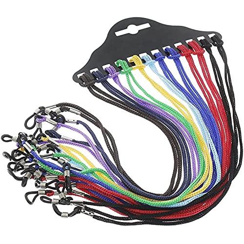 12-Piece Set Eyeglass Chain - Glasses Strap Eyeglass Frame Holder Nylon Cord for Sunglasses, Reading...