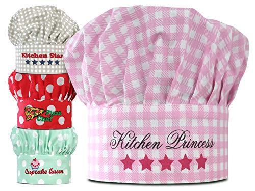 Emily´s Check Kochmütze - Küchenschürze & Topfhandschuh für Kinder 468.550, Kinderkochmütze, Kitchen Princess