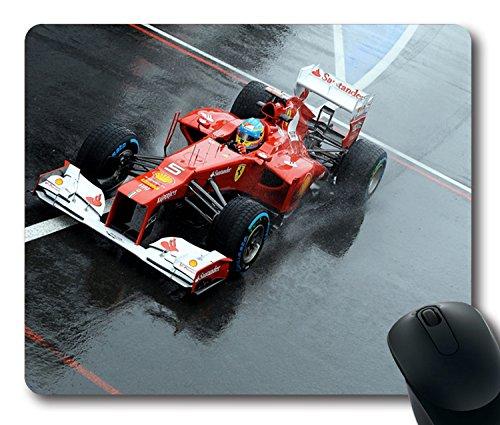Custom ratón para videojuegos con Ferrari Fernando Alonso Formula-1Alonso F1Fernando F2012antideslizante goma de neopreno tamaño estándar 22,86cm (220mm) X 7cm (180mm) X 1/8(3mm) escritorio Mousepad Laptop Mousepads cómodo alfombrilla para ratón de ordenador
