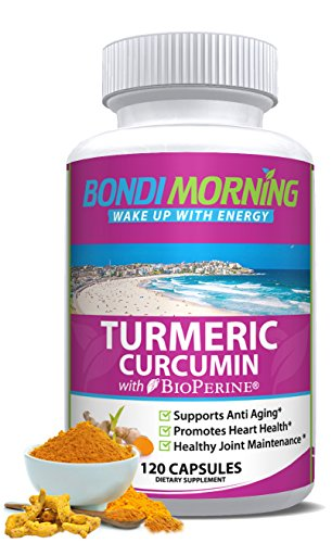 Turmeric Curcumin with Bioperine. High Potency for Maximum Pain Relief and Joint Support. Non-GMO Nutritional Supplement. 1200mg 95% Standardized Curcuminoid Formula. 120 Capsules