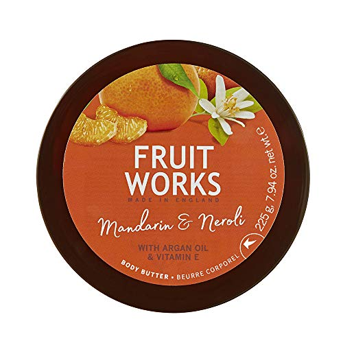 Fruit Works Mandarin & Neroli Cruelty Free & Vegan Body Butter With Natural Extracts 1x 225g