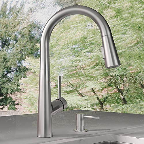 hansgrohe 04749805 Lacuna 1-Handle 17-Inch Tall Pull Down Sprayer Kitchen Faucet, Steel Optic