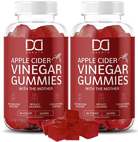 Organic Apple Cider Vinegar Gummies with The Mother for Immunity - Gummy Alternative to Apple Cider Vinegar Capsules, Pills, ACV Tablets w/Delicious All Natural Flavor, 120 Gummy Squares (2 Pack)