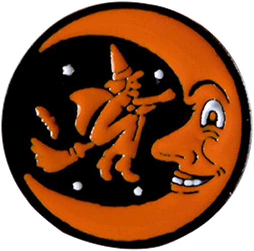 LLYANZ Metal Cartoon Evil Pumpkin Head and Ghost Pin and Brooch for Halloween