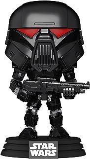 Funko POP Star Wars: Mandalorian Dark Trooper Battle, Action Figure 58289, Multi Color