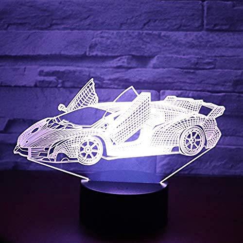 3D licht tafellamp mooi meisje in zadel op een motorfiets quad decoratie bedlampje met USB-kabel als beste cadeau voor jongens, meisjes of gezinnen Interruttore touch Stile 468
