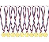 ExeQianming Medaillen für Kinder, Gold, Kunststoff, für Party-Spielzeuge, 10 Stück
