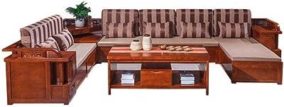 純木のソファーの組合せのコーナーの貯蔵のソファーのレトロな中国のソファー