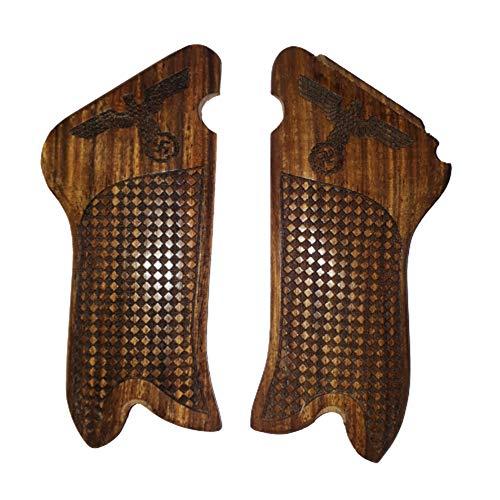 WW2 German Luger P08 Pistol Wooden Grips (Adler style)