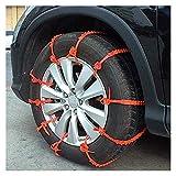 Cadenas 10pcs del coche universal del neumático de nieve antideslizantes neumáticos de invierno Cadenas Mini vulkollan nieve for el carro del coche SUV Cadenas De Nieve Para Coche