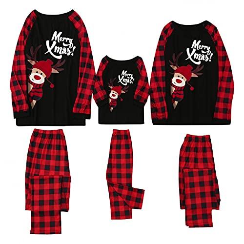 Weihnachten Familie Schlafanzug Outfit Nachtwäsche Herren Damen Kiner Lang Pyjamas Set mit Weihnachtsmotiv Fun-Nachtwäsche Christmas Hausanzug