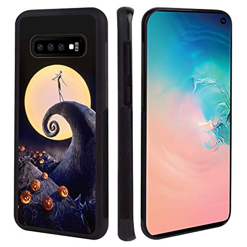 Cell Phone Case Fit for Samsung Galaxy S10+ [6.4inch] Halloween Nightmare Before Christmas