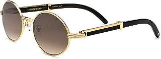 Buffalo Horn Handmade Sun Glasses Round Luxury Sunglasses...