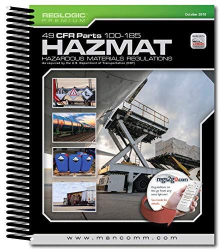 Mancomm 49 CFR: Transportation, Parts 100-185 (US Hazmat Regs), October 2019 (Spiral Bound)