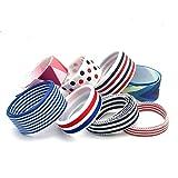 6 unds cintas marineras algodon lazos pelo, canastillas, vestiditos, costura,...