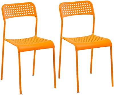 Amazon.com: XUERUI Reception Chairs Chairs Stackable Metal ...