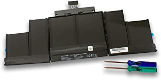 "MR.SUPPLY Apple アップル MacBook Pro 15"" Retina A1398 (Late 2013/Mid 2014) ME293 ME294 交換用バッテリー 専用工具付属 A1494 対応"