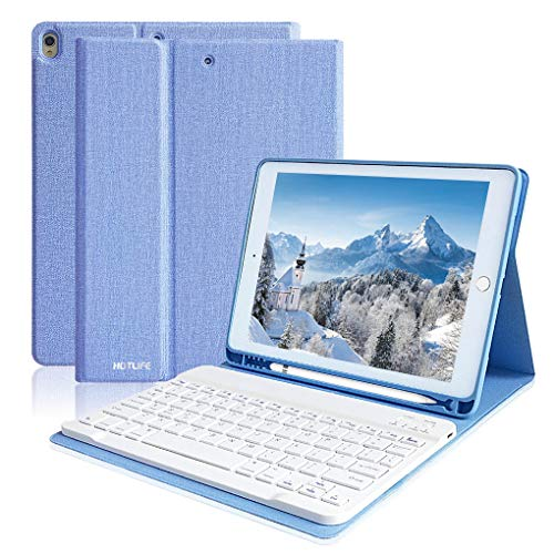 iPad Air 3 Keyboard Case for iPad Pro 10.5 2017, iPad Air 3rd Generation Case with Keyboard, Removable Keyboard Magnetic Cover iPad Air 10.5 Case with Keyboard, Built-in Pencil Holder(Sky Blue)