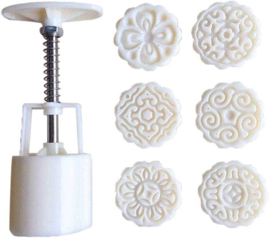 Chocolate Fudge Cake Mold 6pcs Ranking TOP5 Stamps Moon Regular dealer Decor 3D Flowers