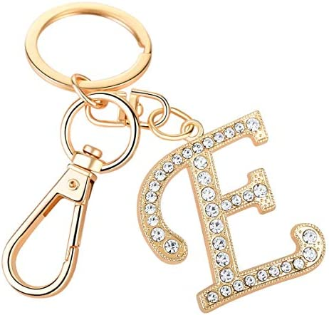 Keychain for Women AlphaAcc Purse Charms for Handbags Crystal Alphabet Initial Letter Pendant product image