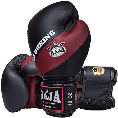 RAJA Boxhandschuhe, RJB-S2 Deluxe, schwarz-weinrot Größe 10 Oz