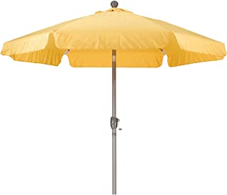 47f9662c667dd California Umbrella 7.5' Round Aluminum Pole Fiberglass Rib Umbrella, Crank  Open, Push Button