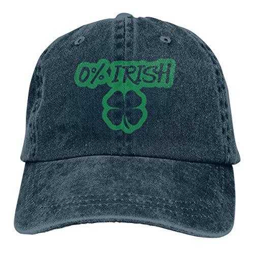 HGHGH Gorra de béisbol de Tela de Mezclilla para Hombre/Mujer Correa Ajustable Perfil bajo 0 por ciento Gorra de Hiphop Irlandesa