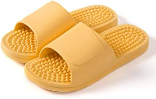 Ladies Bathroom Bath Slippers,Indoor Floor Slippers PVC Non-Slip Breathable Pool Slippers Outdoor Open-Toed Beach Shoes