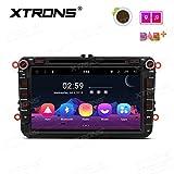 XTRONS 8' Auto Touchscreen Autoradio DVD Player mit Android 8.1 Octa-Core Multimedia Player untersützt 4K Video WiFi 4G Bluetooth 2GB RAM 16GB ROM DAB & OBD2 FÜR Volkswagen VW