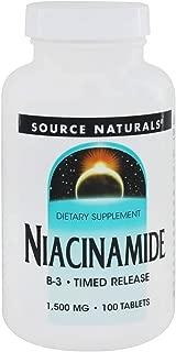 Source Naturals Niacinamide 1500mg, 100 Tabs