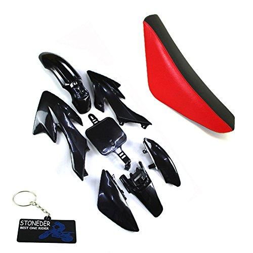 STONEDER Schwarze Kunststoff Verkleidung Hohe Schaum Sitz Für CRF50 XR50 Pit Dirt Bike und ihre chinesischen Kopien 50 90 125 160cc DHZ GPX Pitster Pro SDG Braaap Taotao