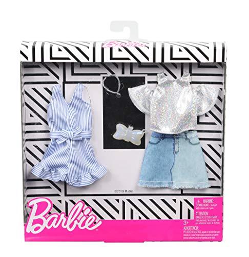 バービー(Barbie) ファッション2パック デニム・スパークル 【着せ替え人形用ドレス アクセサリー】【3歳~】 GHX56