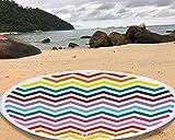 Manfâ rayas del arco iris redondo patrón de tapices de toalla de playa 147 * 147 cm manta redonda cubierta de mesa mantel redondo yoga estera de picnic
