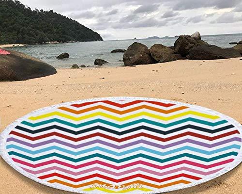 Manfâ rayas del arco iris redondo patrón de tapices de