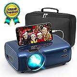 [page_title]-Mini Beamer für Heimkino 1080P Full HD unterstützt , Video Projektor mit Tragetasche 4500 Lumen LED 50000 Stunden Fußball Spiel Spaß Kompatibel mit HDMI/VGA/USB/AV Multimedia