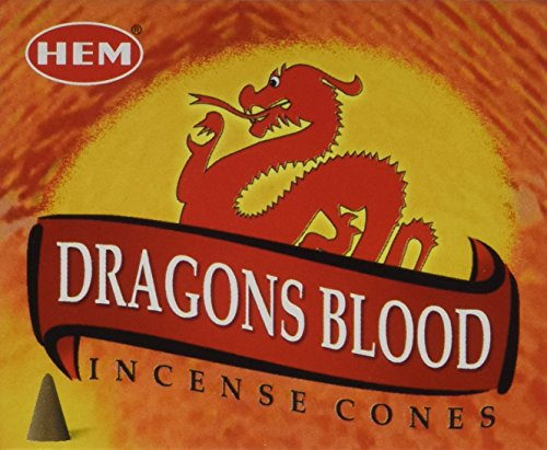Dragons Blood - Case of 12 Boxes, 10 Cones Each - HEM Incense From India