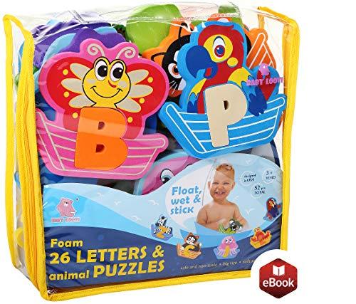 BABY LOOVI Non-Toxic Foam Bath Toys for...